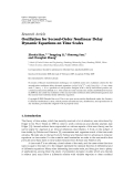 """Báo cáo hoa học: """" Research Article Oscillation for Second-Order Nonlinear Delay Dynamic Equations on Time Scales"""""""