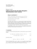 "Báo cáo hoa học: ""  Research Article Uniform Attractor for the Partly Dissipative Nonautonomous Lattice Systems"""