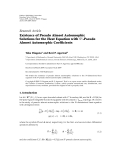 """Báo cáo hóa học: """" Research Article Existence of Pseudo Almost Automorphic Solutions for the Heat Equation with Sp -Pseudo Almost Automorphic Coefficients"""""""