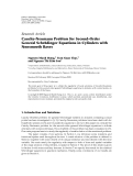 """Báo cáo hóa học: """" Research Article Cauchy-Neumann Problem for Second-Order ¨ General Schrodinger Equations in Cylinders with Nonsmooth Bas"""""""