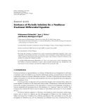 """Báo cáo hóa học: """"Research Article Existence of Periodic Solution for a Nonlinear Fractional Differential Equ"""""""