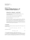 """Báo cáo hóa học: """" Research Article Existence of Global Attractors in Lp for m-Laplacian Parabolic Equation in RN"""""""