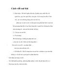 Cách viết mở bài