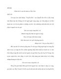 ĐỀ BÀI: Phân tích 4 câu thơ miêu tả Thuý Vân
