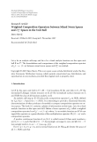 "Báo cáo hóa học: ""  Research Article Weighted Composition Operators between Mixed Norm Spaces ∞ and Hα Spaces in the Unit Ball"""