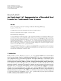 """Báo cáo hóa học: """" Research Article An Equivalent LMI Representation of Bounded Real Lemma for Continuous-Time Systems"""""""