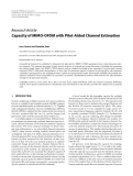 """Báo cáo hóa học: """"Research Article Capacity of MIMO-OFDM with Pilot-Aided Channel Estimation"""""""