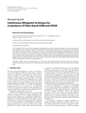 "Báo cáo hóa học: "" Research Article Interference Mitigation Technique for Coexistence of Pulse-Based UWB and OFDM"""