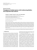 """Báo cáo hóa học: """" Research Article Throughput of Cellular Systems with Conferencing Mobiles and Cooperative Base Stations"""""""