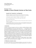 """Báo cáo hóa học: """"Research Article Stability of Linear Dynamic Systems on Time Scales"""""""