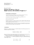 "Báo cáo hóa học: "" Research Article Existence Result for a Class of Elliptic Systems with Indefinite Weights in R2"""