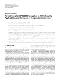 "Báo cáo hóa học: "" Research Article Format-Compliant JPEG2000 Encryption in JPSEC: Security, Applicability, and the Impact of Compression Parameters"""