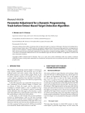 "Báo cáo hóa học: ""Research Article Parameter Adjustment for a Dynamic Programming Track-before-Detect-Based Target Detection Algorithm"""