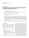 "Báo cáo hóa học: ""  Research Article Computational Issues Associated with Automatic Calculation of Acute Myocardial Infarction Scores"""