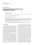 """Báo cáo hóa học: """"Research Article Complex-Valued Adaptive Signal Processing Using Nonlinear Functions"""""""