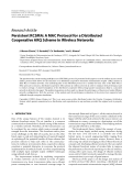 "Báo cáo hóa học: "" Research Article Persistent RCSMA: A MAC Protocol for a Distributed Cooperative ARQ Scheme in Wireless Networks"