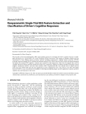 """Báo cáo hóa học: """" Research Article Nonparametric Single-Trial EEG Feature Extraction and Classification of Driver's Cognitive """""""
