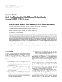 "Báo cáo hóa học: ""  Research Article Code Combination for Blind Channel Estimation in General MIMO-STBC System"""