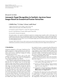 """Báo cáo hóa học: """"  Research Article Automatic Target Recognition in Synthetic Aperture Sonar Images Based on Geometrical Feature Extraction"""""""
