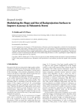 """Báo cáo hóa học: """"  Research Article Modulating the Shape and Size of Backprojection Surfaces to Improve Accuracy in Volumetric Stereo"""""""