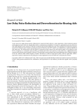 "Báo cáo hóa học: ""  Research Article Low Delay Noise Reduction and Dereverberation for Hearing Aids"""