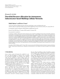"""Báo cáo hóa học: """"  Research Article Downlink Resource Allocation for Autonomous Infrastructure-based Multihop Cellular Networks"""""""