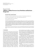 "Báo cáo hóa học: "" Research Article APRON: A Cellular Processor Array Simulation and Hardware Design Tool"""