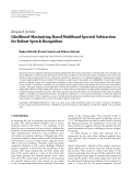 """Báo cáo hóa học: """"  Research Article Likelihood-Maximizing-Based Multiband Spectral Subtraction for Robust Speech Recognition"""""""