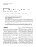 "Báo cáo hóa học: "" Research Article Pure-Pursuit Reactive Path Tracking for Nonholonomic Mobile Robots with a 2D Laser Scanner"""