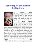 Hội chứng rối lọan sinh sản hô hấp ở lợn