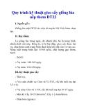 Quy trình kỹ thuật gieo cấy giống lúa nếp thơm DT22