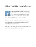 10 Loại Thực Phẩm Chống Trầm Cảm