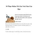 10 Thực Phẩm Tốt Cho Trái Tim Của Bạn