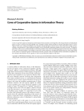 """Báo cáo hóa học: """"  Research Article Cores of Cooperative Games in Information Theory"""""""