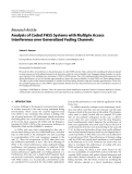 """Báo cáo hóa học: """" Research Article Analysis of Coded FHSS Systems with Multiple Access Interference over Generalized Fading Channels"""""""