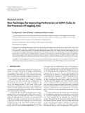 """Báo cáo hóa học: """" Research Article New Technique for Improving Performance of LDPC Codes in the Presence of Trapping S"""""""