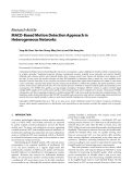 """Báo cáo hóa học: """" Research Article MACD-Based Motion Detection Approach in Heterogeneous Networks"""""""