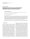 "Báo cáo hóa học: ""  Research Article Penetration Loss Measurement and Modeling for HAP Mobile Systems in Urban Environment Jaroslav Holis and Pavel Pechac"""