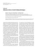 "Báo cáo hóa học: "" Editorial Advances in Error Control Coding Techniques"""