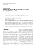 "Báo cáo hóa học: "" Article ID 598038, 10 pages doi:10.1155/2008/598038  Research Article Hybrid Polling Method for Direct Link Communication for IEEE 802.11 Wireless LANs Woo-Yong Choi"""