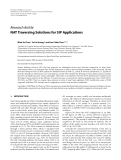 """Báo cáo hóa học: """" Research Article NAT Traversing Solutions for SIP Applications"""""""