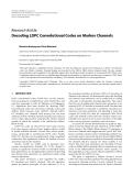 "Báo cáo hóa học: "" Research Article Decoding LDPC Convolutional Codes on Markov Channels"""