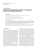 """Báo cáo hóa học: """" Research Article An Efficient Scheduling Scheme to Enhance the Capacity of VoIP Services in Evolved UTRA Uplink"""""""