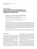 """Báo cáo hóa học: """" Research Article Reduced-Rank Shift-Invariant Technique and Its Application for Synchronization and Channel Identification in UWB Systems"""""""