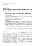 "Báo cáo hóa học: ""Research Article On Throughput-Fairness Tradeoff in Virtual MIMO Systems with Limited Feedback"""