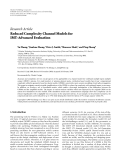 """Báo cáo hóa học: """" Research Article Reduced Complexity Channel Models for IMT-Advanced Evaluation"""""""