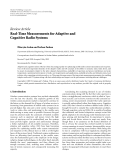 "Báo cáo hóa học: "" Review Article Real-Time Measurements for Adaptive and Cognitive Radio Systems"""
