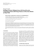 """Báo cáo hóa học: """"Research Article Intelligent Decision-Making System with Green Pervasive Computing for Renewable Energy Business in Electricity Markets on Smart Grid"""""""