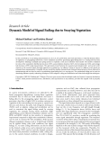 """Báo cáo hóa học: """"Research Article Dynamic Model of Signal Fading due to Swaying Vegetation"""""""
