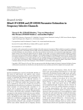 "Báo cáo hóa học: ""Research Article Blind CP-OFDM and ZP-OFDM Parameter Estimation in Frequency Selective Channels"""
